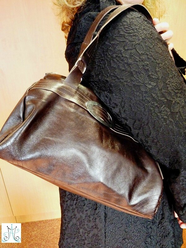 Mag Attack - Sac en cuir marron - Julie19