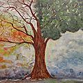 ♣l'arbre aux 2 saisons