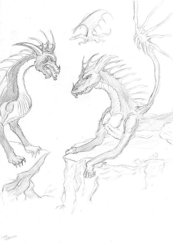 Un dessin de dragon bidos docs - Dessiner dragon ...