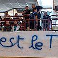 La banderole de Patoche... Avec les noms des licenciés du TTP...