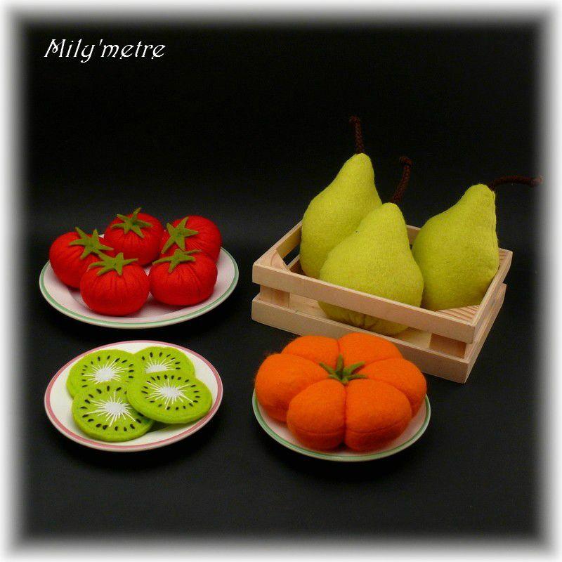 Tomates kiwis poires et citrouille
