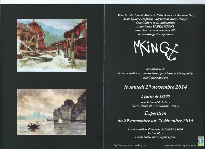 Invitation expo Michel King 2