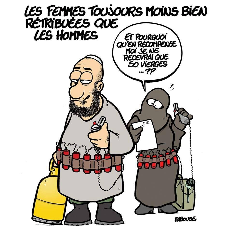 islam teroriste femme burka humour