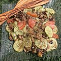 Salade épicée aux aubergines