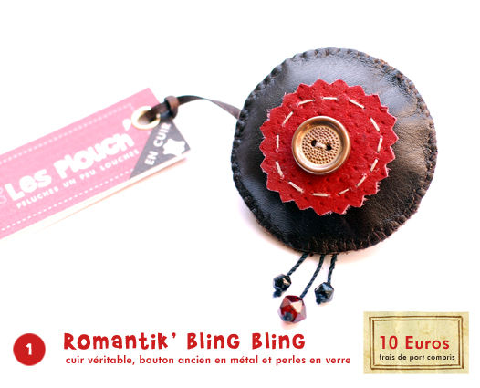 1/ Broche Romantik' bling bling
