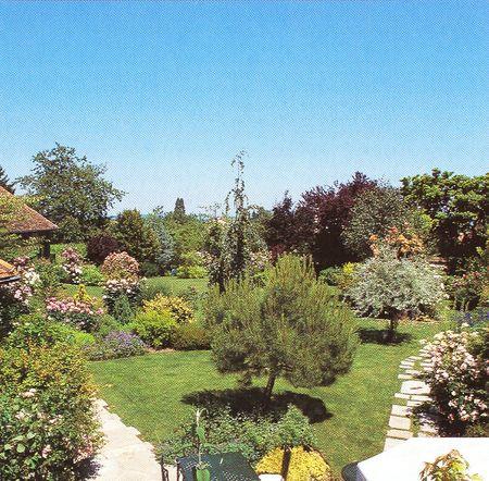 vue sur le jardin à l'anglaise