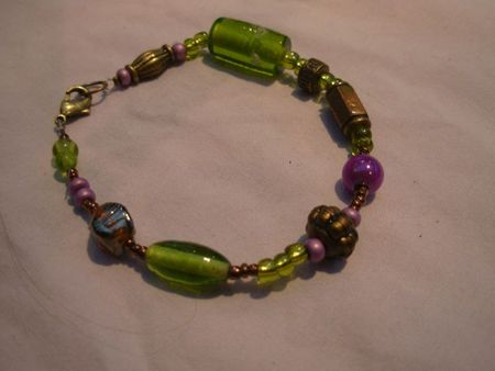 bracelet violet , vert