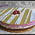 Entremet chocolat blanc cassis...