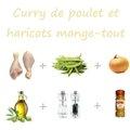 Curry de poulet et haricots mange-tout