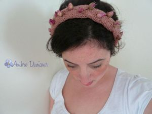 dawanda headband rose lin naturel image 1