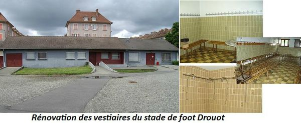 Rnovation des vestiaires du stade de foot Drouot