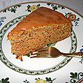 Cake à la carotte - carrot cake