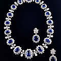 Sapphire and diamond set by bulgari