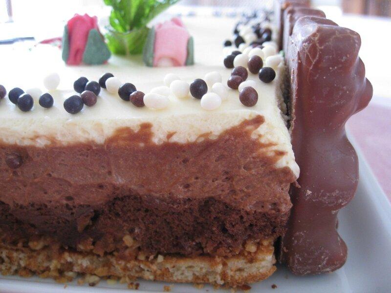 gâteau au trois chocolats