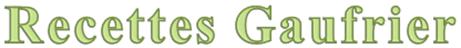 Recettes gaufrier