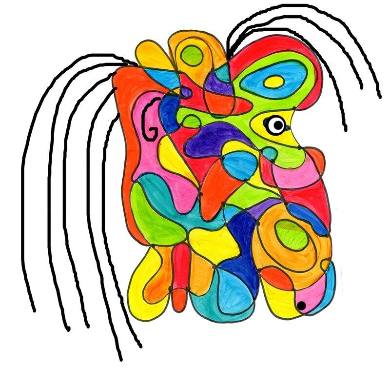 128_Composition abstraite_ De point à point (visage)-002