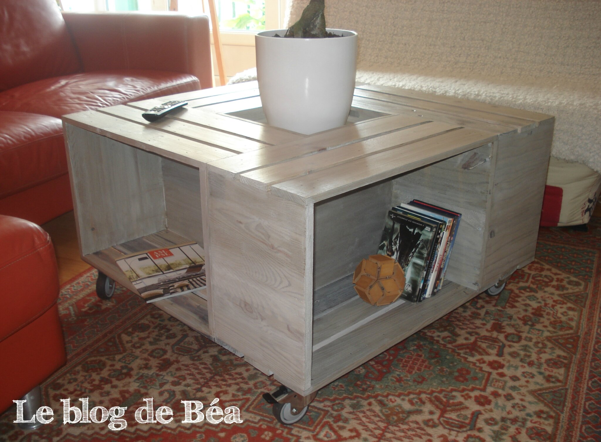 Fabriquer une table basse bar for Fabriquer table basse relevable