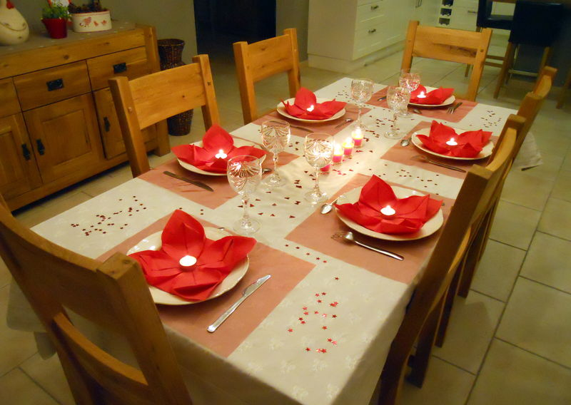 Ma table de noel en rouge et blanc campagne d coration - Decoration table de noel rouge et blanc ...