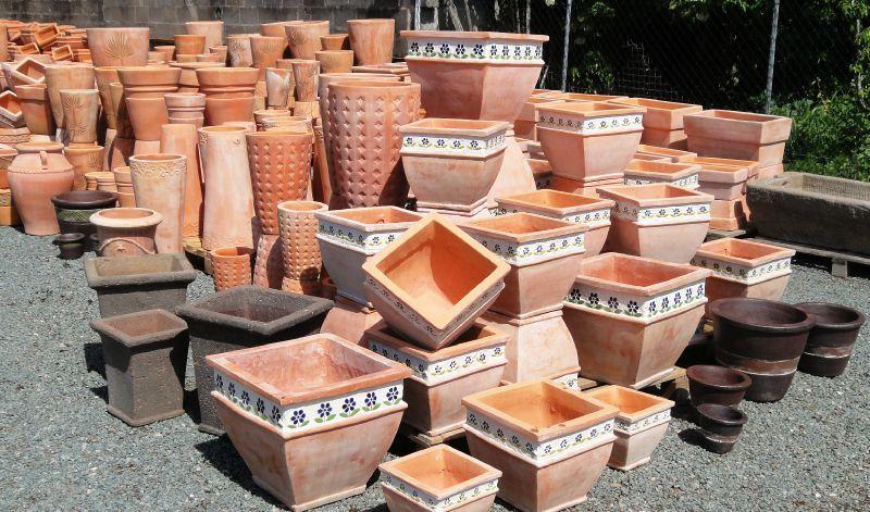 Pots de jardin en terre cuite pots de jardin en terre - Bordure de jardin ancienne en terre cuite ...