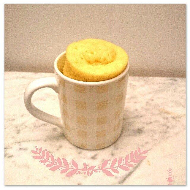 Mug cake citron