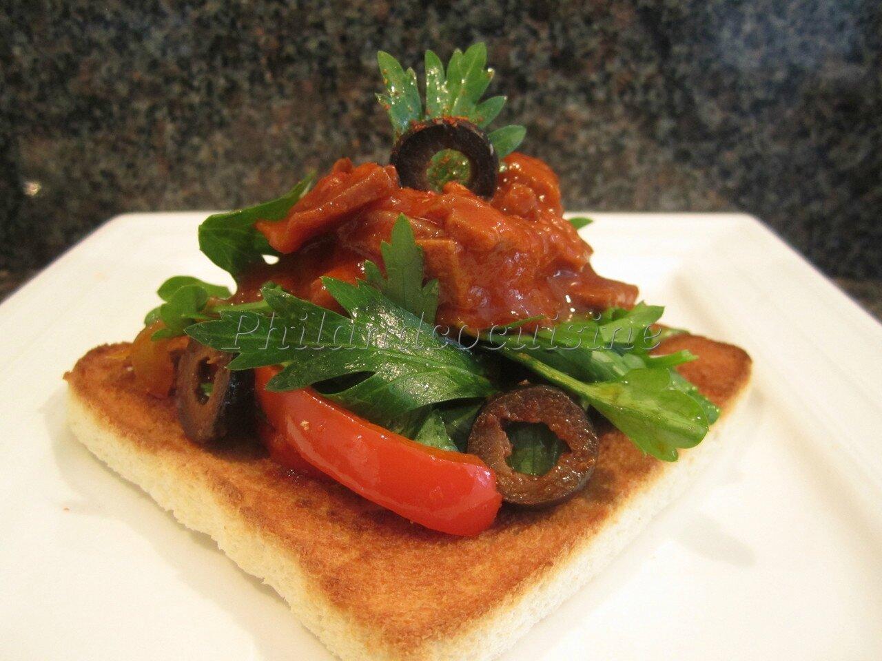 Tartine de calamars sauce am ricaine blogs de cuisine - Blog cuisine americaine ...