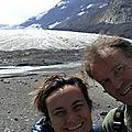 Au pied du glacier Athabasca, Parc national de Jasper