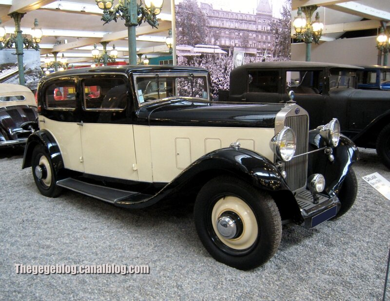 Delage D6-II berline de 1933 (Cité de l'Automobile Collection Schlumpf à Mulhouse) 01