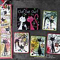 A set of atcs, bookmark and playing cards for katzelkraft