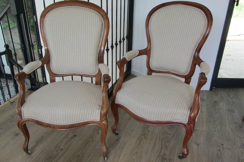 paire de fauteuils Louis Philippe