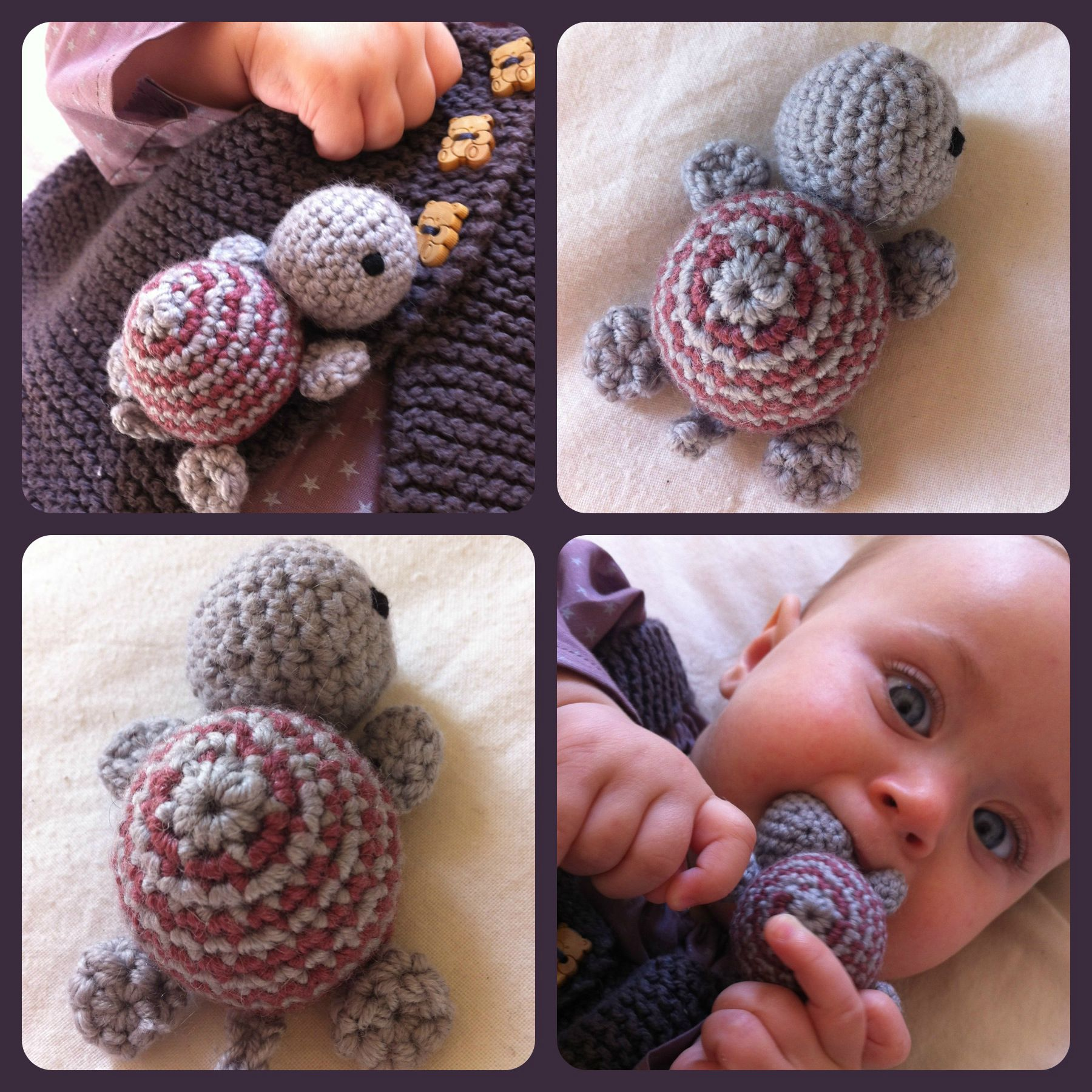 Mini tortue au crochet