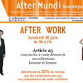 Article 23: after work aujourd'hui.