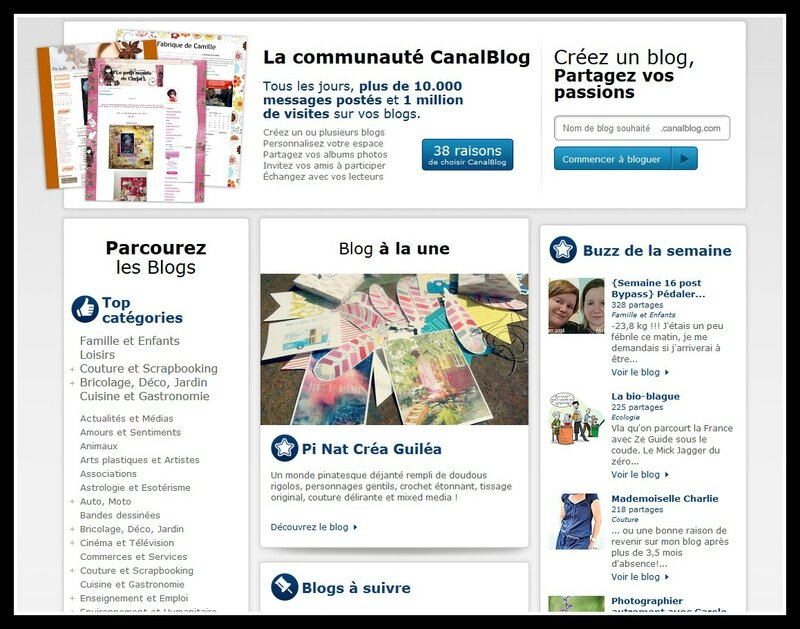 page canalblog