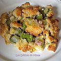 Crumble de courgettes aux lardons et au parmesan