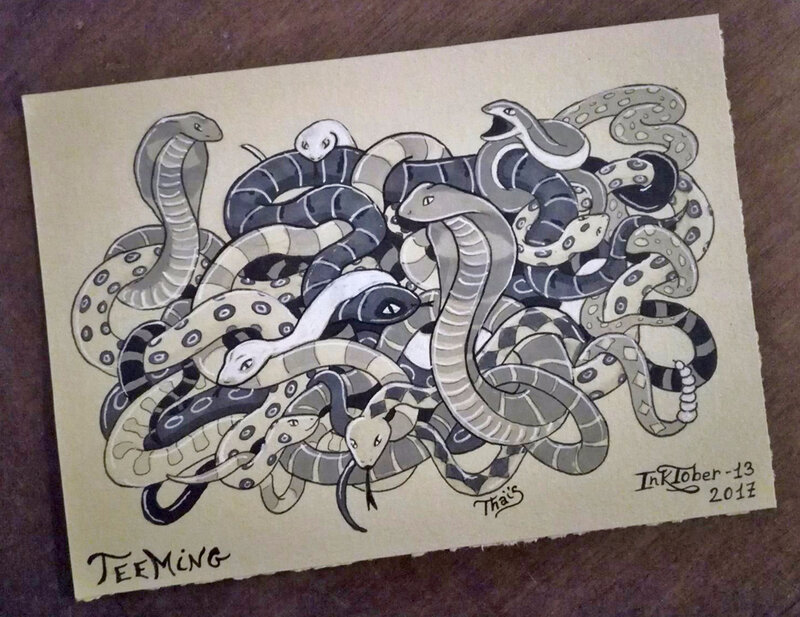 Inktober13-teeming-net