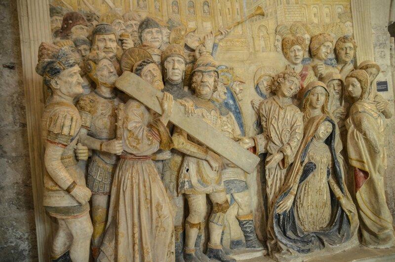 sacristie retable portement de la croix