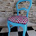 chaise bleu