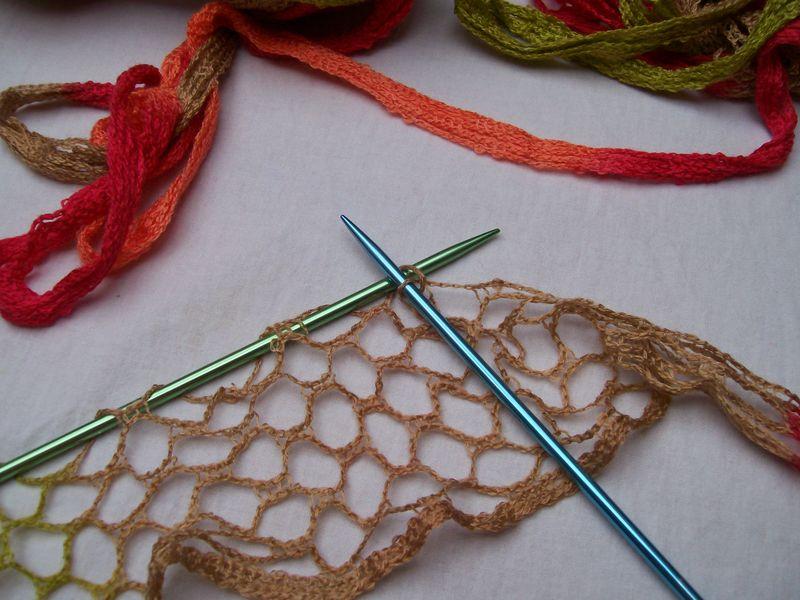 comment tricoter une laine ruban