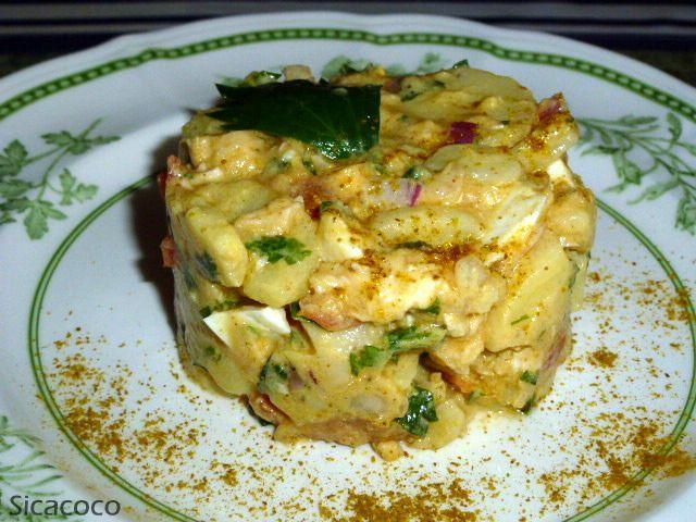 Salade de pommes de terre aux saveurs antillaise les - Recette cuisine antillaise ...