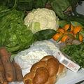 fromage et légumes