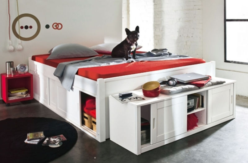 lit adulte rangement integre maison design. Black Bedroom Furniture Sets. Home Design Ideas