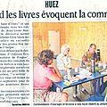 On en parle dans la presse.... le 2ème café littéraire à huez d'août