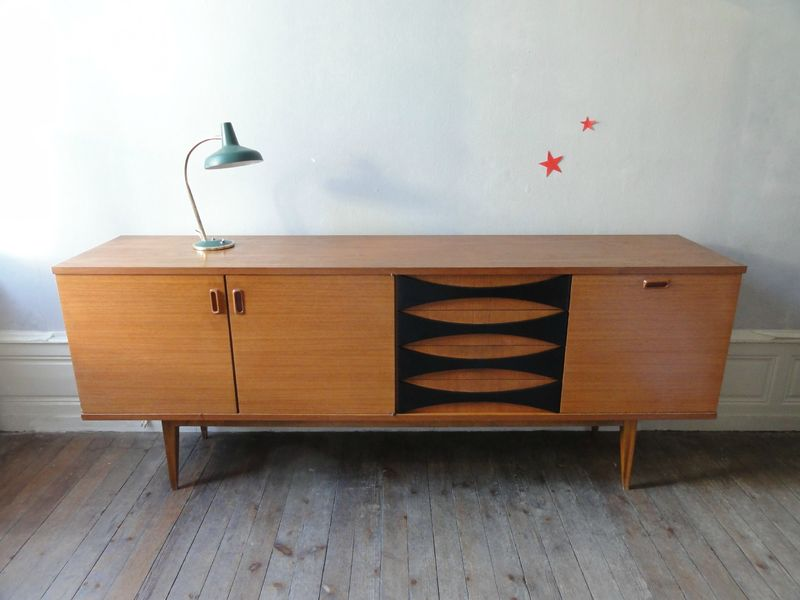 Chaises annees 60 style baumann vintage moi for Style scandinave annees 50