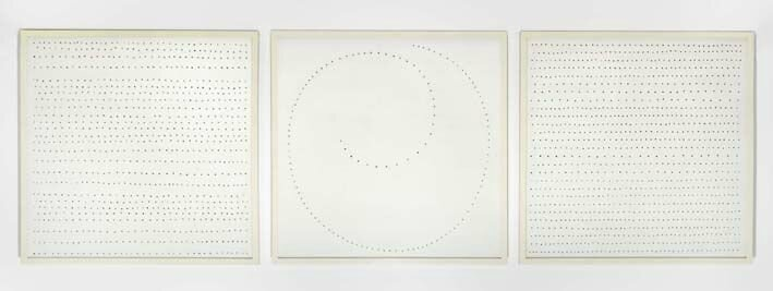 For the first time in Europe, Fondazione Marconi presents Lucio Fontana's 'Concetto spaziale, Trinità'