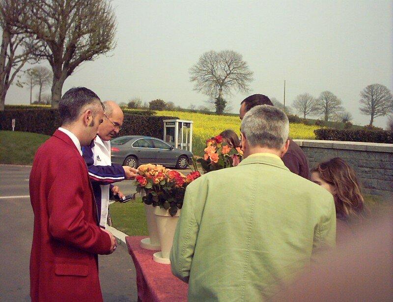 Choix des fleurs avant d'entrer