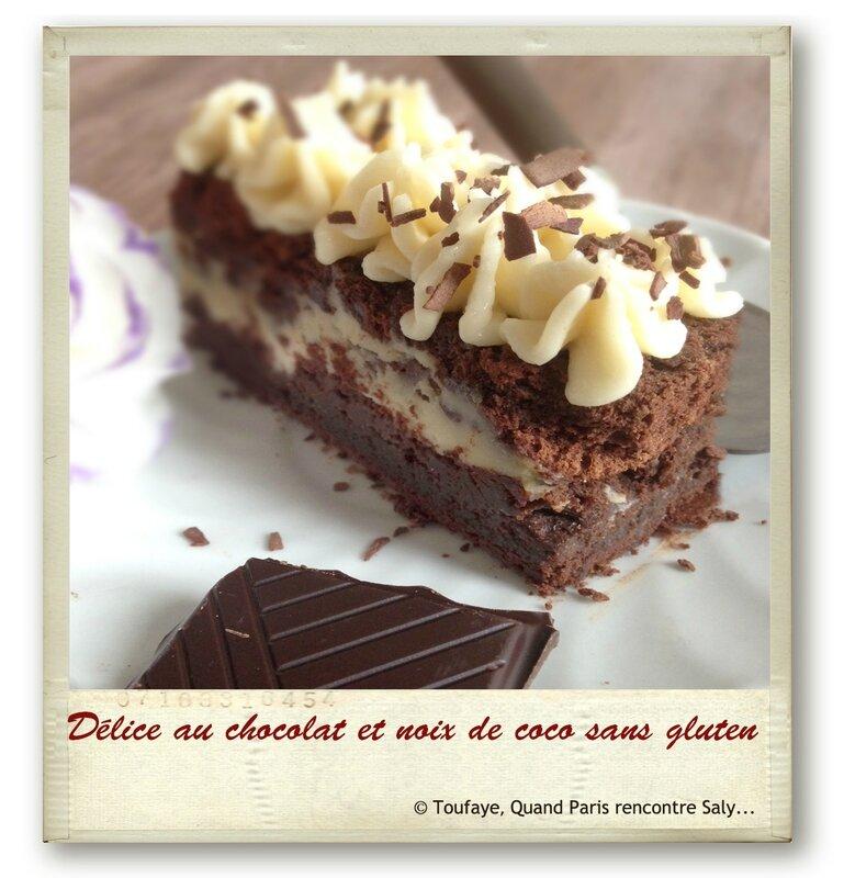 Délice au chocolat et noix de coco sans gluten