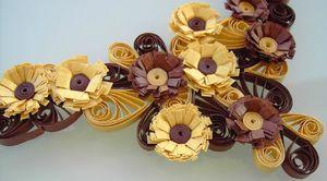 collier quilling marron doré 3