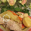 Jarret de porc fermier aux légumes de la baie et bon 1er avril