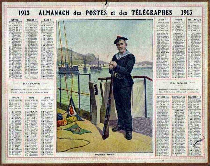 Calendrier 1913-1