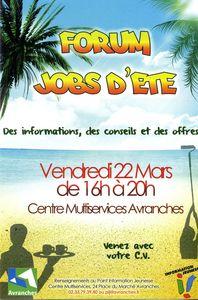 forum job été Avranches 22 mars 2013