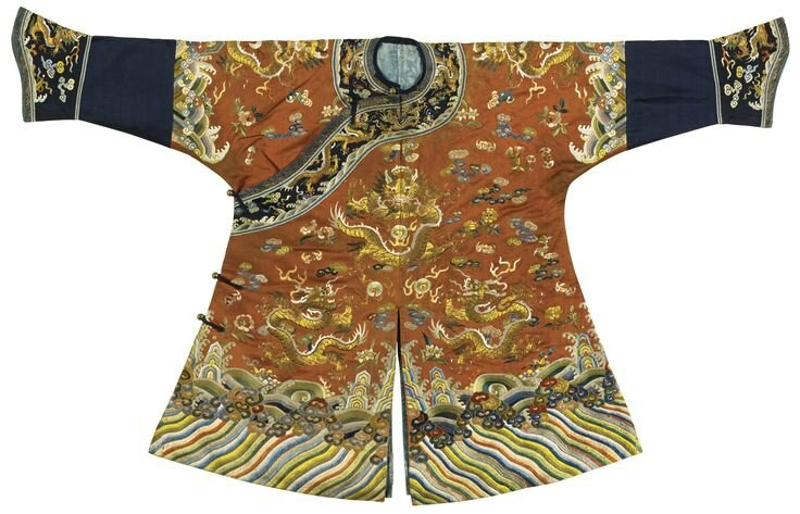 A child's silk 'dragon' robe, Qing dynasty, 19th century